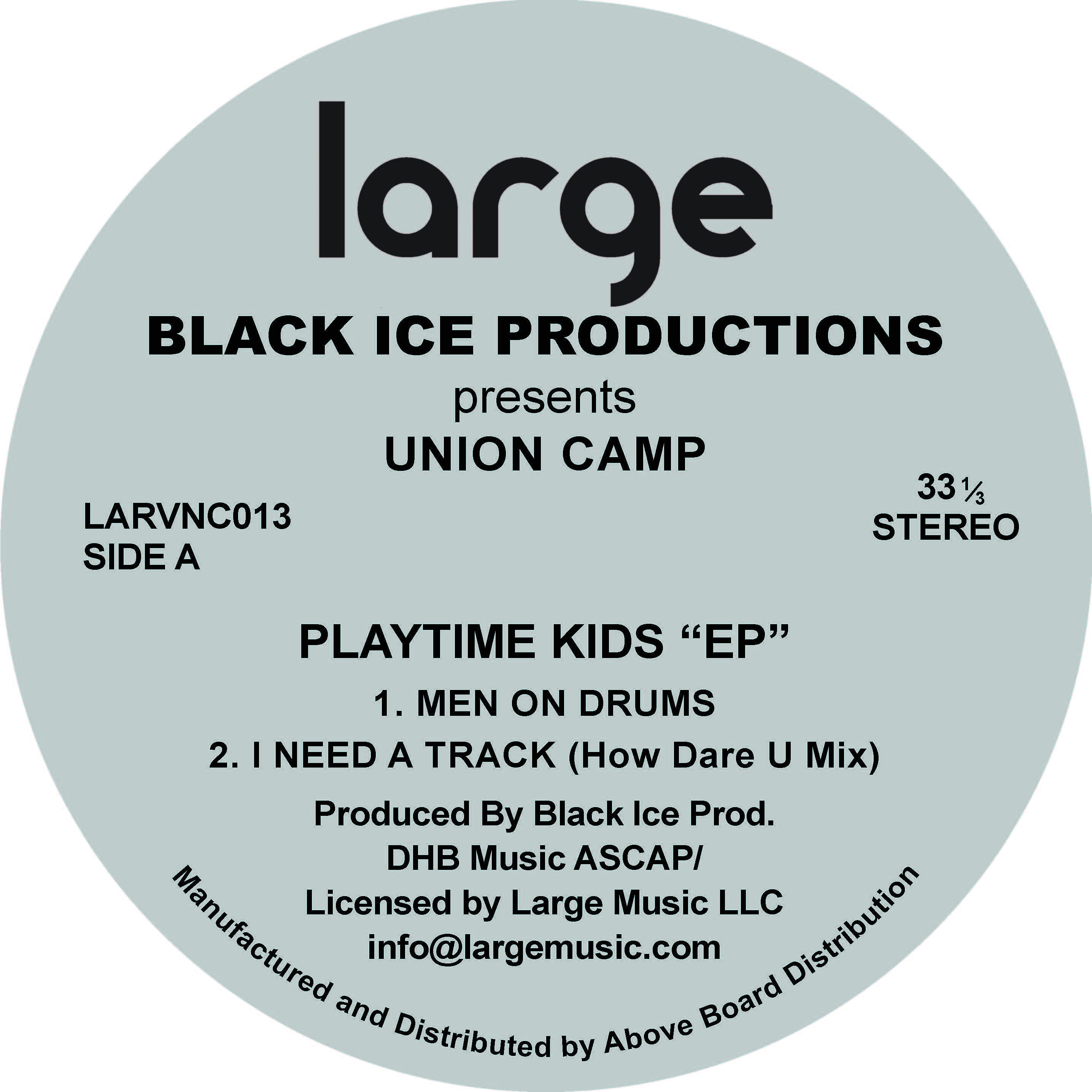 Black Ice | Union Camp EP (12 inch vinyl)